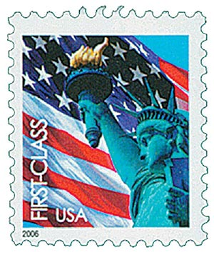 2005 39c Statue of Liberty and Flag, 11 1/4 perf