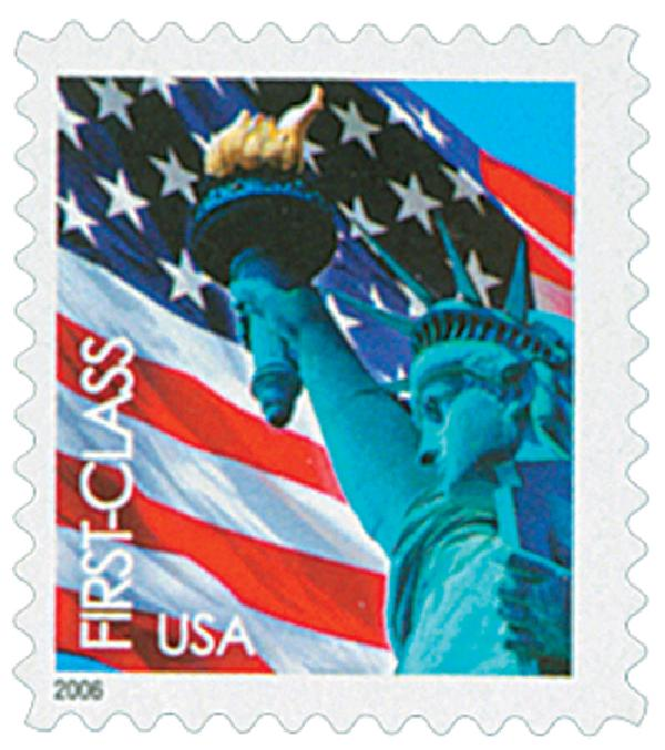 2005 39c Statue of Liberty and Flag, 11 1/4 x 11 perf