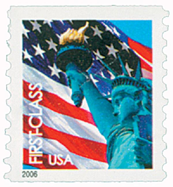 2005 39c Statue of Liberty and Flag, coil, 9 3/4 perf