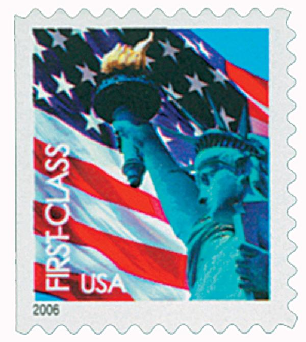 2005 39c Statue of Liberty and Flag, booklet