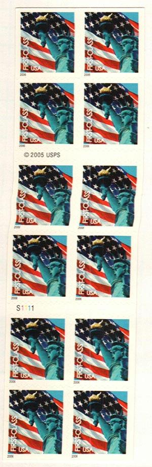 2005 39c non-denom Flag & Statue, bkt 20