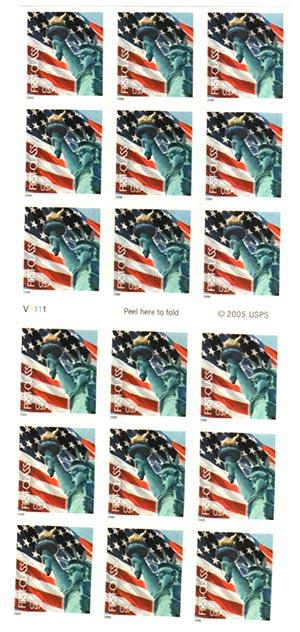 2005 39c non-denom Flag & Statue ATM bkt