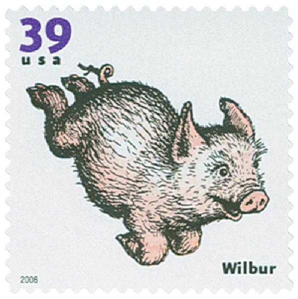 2006 39c Childrens Book Animals: Wilbur