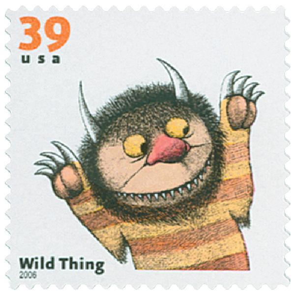 2006 39c Childrens Book Animals: Wild Thing
