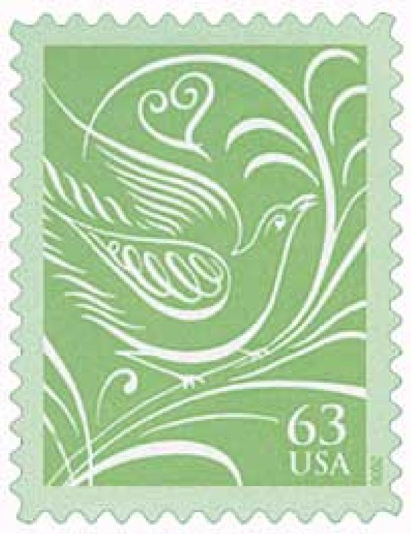 2006 63c Wedding Series: Green Doves