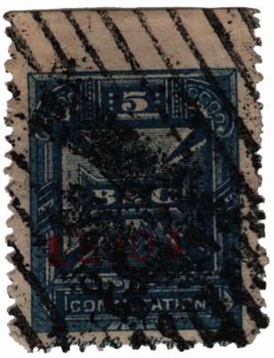 1886 5c blue