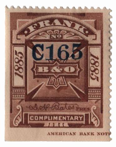 1885 brn,perf 12, 'Balt. & Ohio'