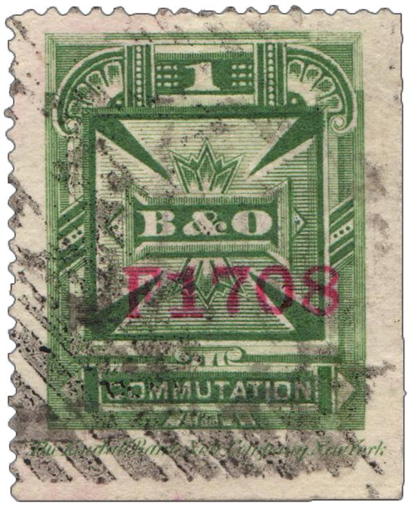 1886 1c grn,perf 14,thin paper