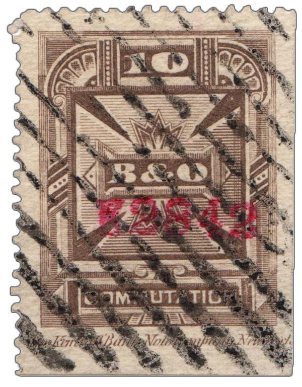 1886 10c brn,perf 14,thin paper