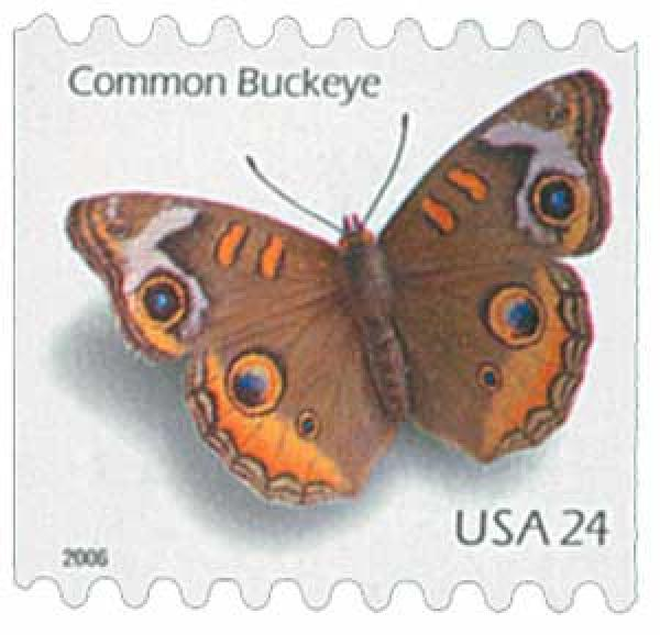 2006 24c Common Buckeye Butterfly, self-adhesive coil