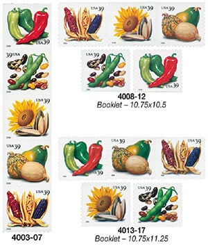 2006 39c Crops of the Americas, set of 15 stamps