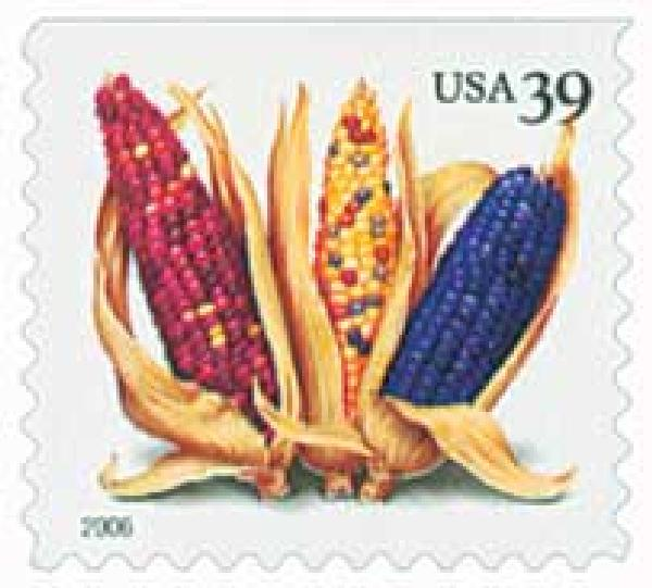 2006 39c Crops of America: Corn, convertible booklet single