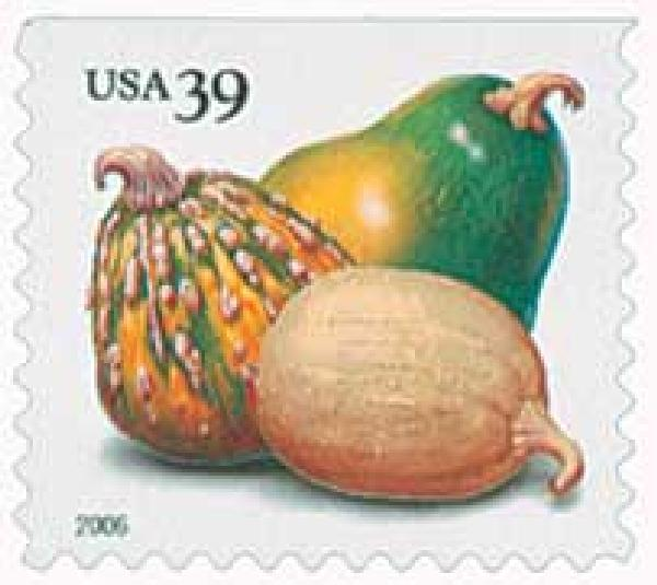 2006 39c Crops of America: Squashes, convertible booklet single