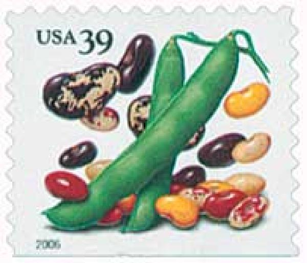2006 39c Crops of America: Beans, convertible booklet single