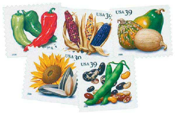 2006 39c Crops of America, vending booklet