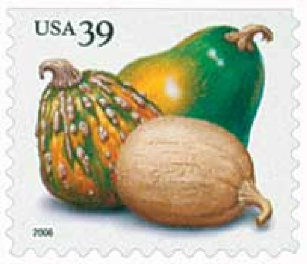 2006 39c Crops of America: Squashes, vending booklet single