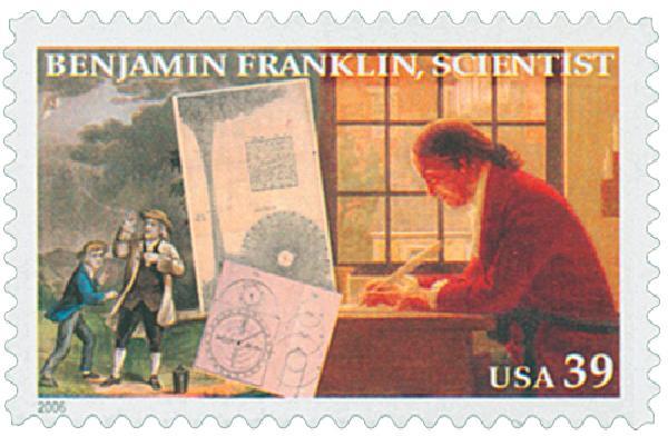 2006 39c Benjamin Franklin: Scientist