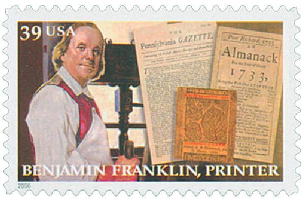 2006 39c Benjamin Franklin: Printer