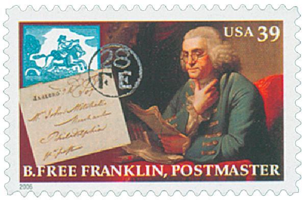 2006 39c Benjamin Franklin: Postmaster