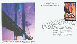 U.S. #4052 – The Verrazano Bridge was honored in the Wonders of America set.