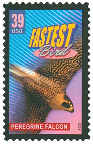 2006 39c Peregrine Falcon, Fastest Bird