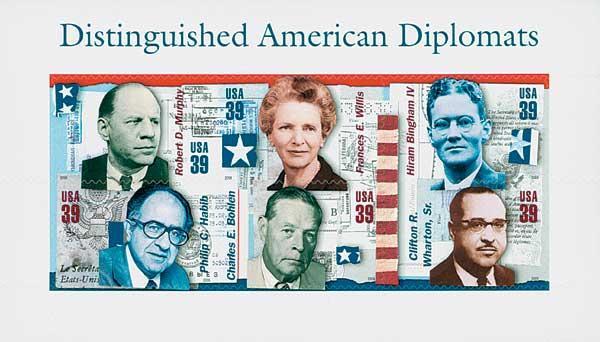 2006 39c American Diplomats, souvenir sheet of 6