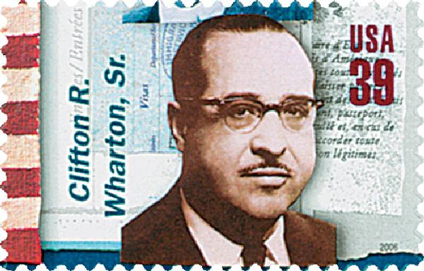 2006 39c American Diplomats: Clifton R. Wharton. Sr.
