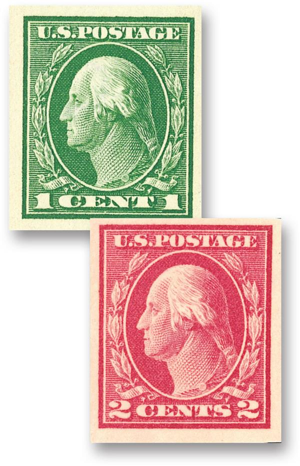 Complete Set, 1912 Imperforate Issue