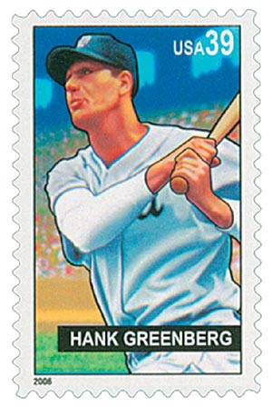 2006 39c Baseball Sluggers: Hank Greenberg