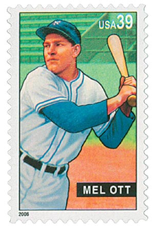 2006 39c Baseball Sluggers: Mel Ott