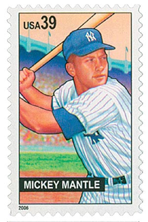 2006 39c Baseball Sluggers: Mickey Mantle