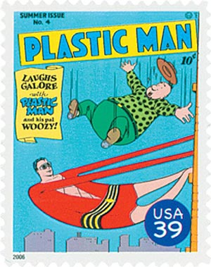 2006 39c DC Comics Super Heroes:  Cover of Plastic Man
