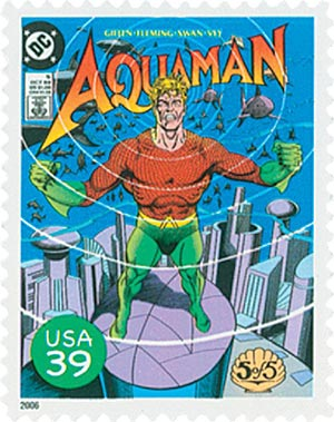 2006 39c DC Comics Super Heroes: Cover of Aquaman