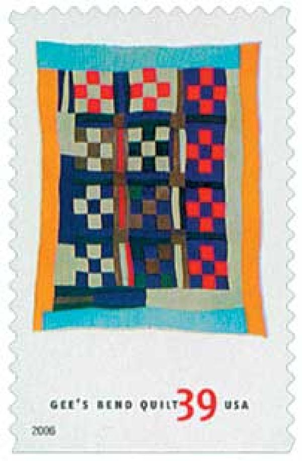 2006 39c Quilts of Gees Bend: Nine Patch