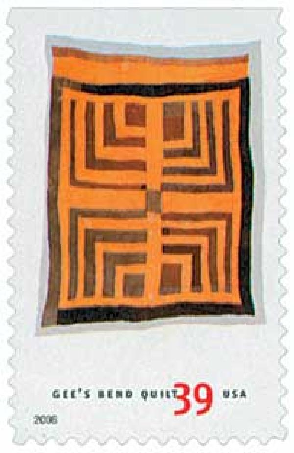 2006 39c Quilts of Gees Bend: Housetop and Log Cabin