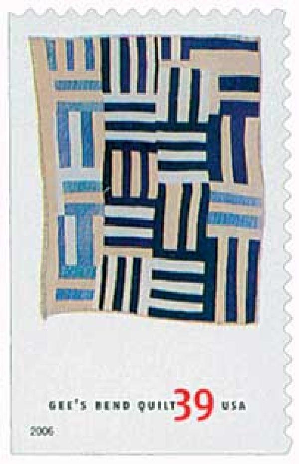 2006 39c Quilts of Gees Bend: Roman Stripes