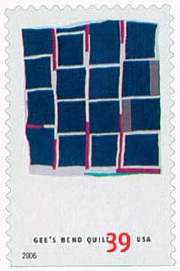2006 39c Quilts of Gees Bend: Blocks and Strips