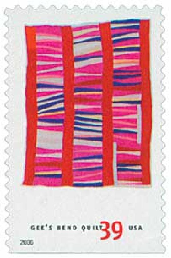 2006 39c Quilts of Gees Bend: Bars and Columns