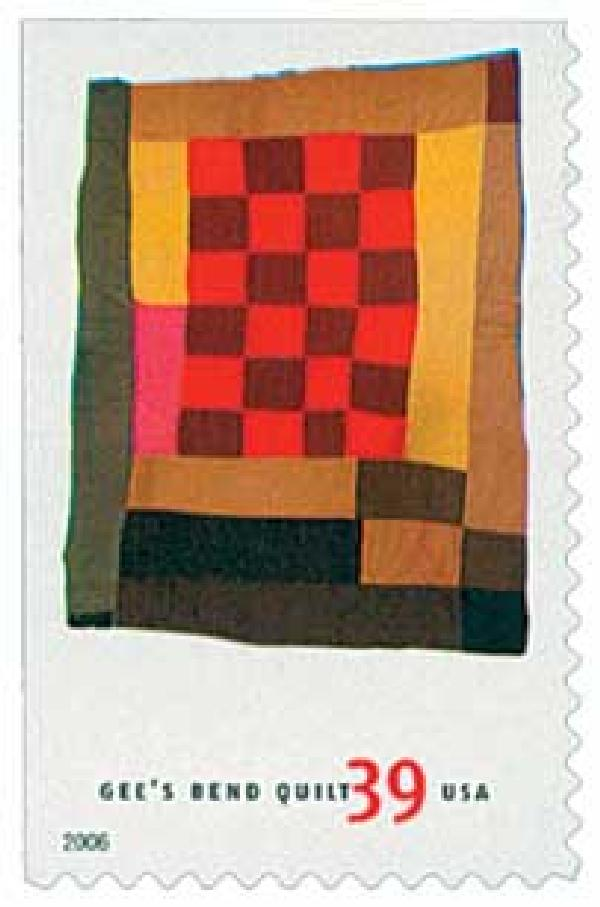 2006 39c Quilts of Gees Bend: Medallion and Checkered Center