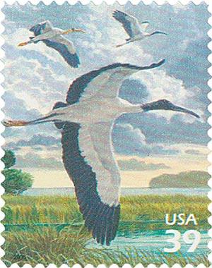 2006 39c Southern Florida Wetland: Wood Stork