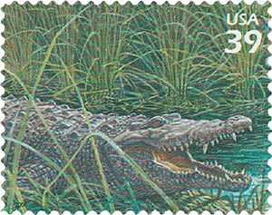 2006 39c Southern Florida Wetland: American Crocodile