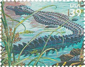 2006 39c Southern Florida Wetland: American Alligator