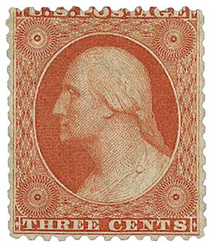 1875 3c Washington scarlet