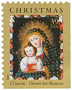 2006 39c Traditional Christmas: Madonna and Child with Bird