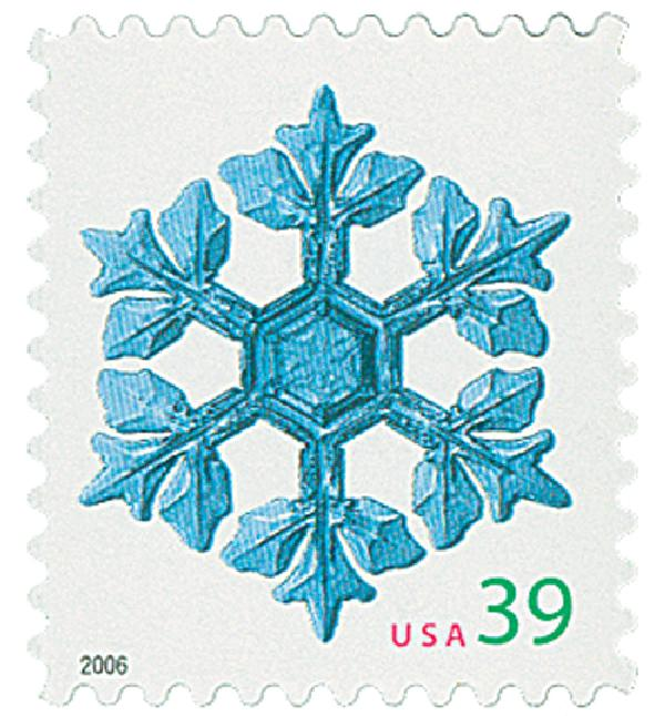 2006 39c Contemporary Christmas: Leafy Arms Snowflake