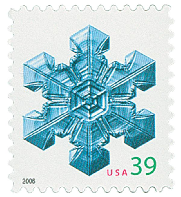 2006 39c Contemporary Christmas: Large Center Snowflake