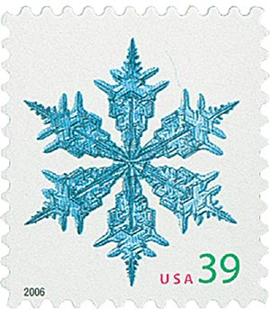 2006 39c Contemporary Christmas: Wide Arms Snowflake