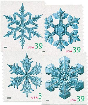 2006 39c Contemporary Christmas: Holiday Snowflakes, convertible booklet
