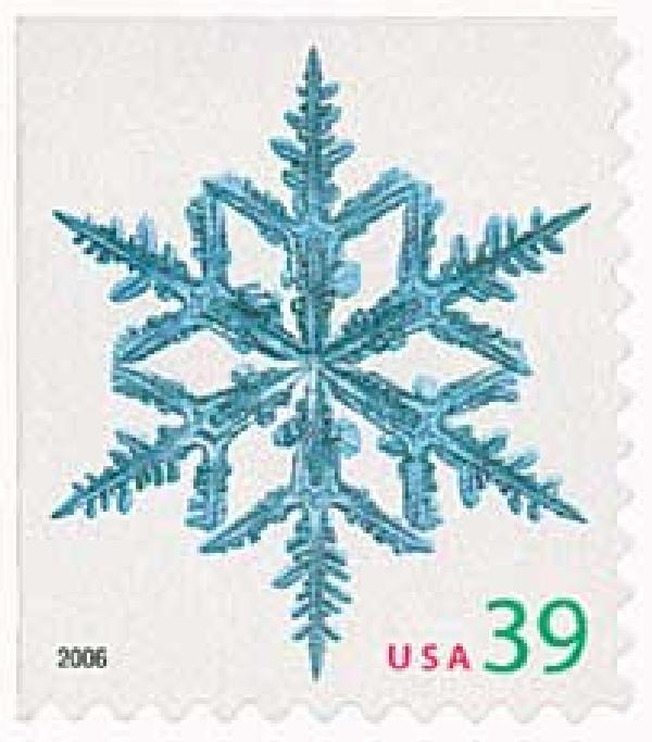 2006 39c Contemporary Christmas: Spindly Arms Snowflake, conventional