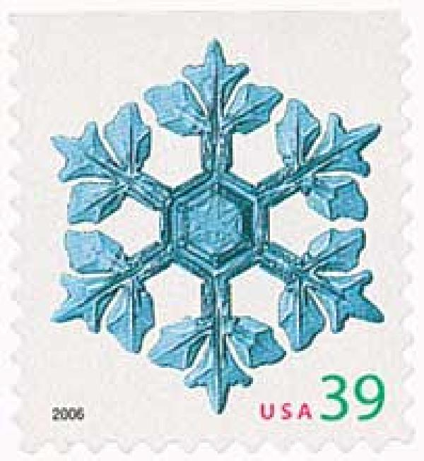 2006 39c Contemporary Christmas: Leafy Arms Snowflake, conventional